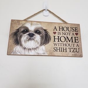 """Wooden dog sign made in USA 5×10"""""""